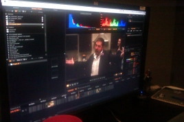 Getting ready for our colour timing at Deluxe
