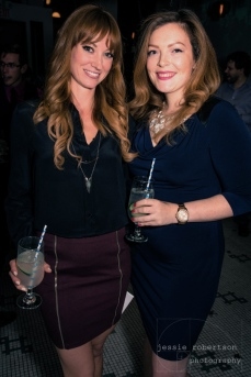A couple of redheads! From L to R: True Heroines Fiona Vroom & Filmmaker Jane Hancock