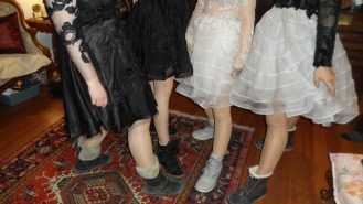 Sometimes you have to forgo fashion... at least until you get to the awards #snow