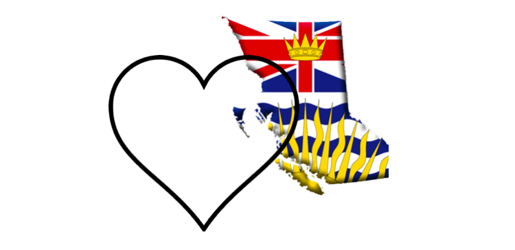 I HEART BRITISH COLUMBIA #wecreatebc