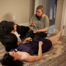 Nicholas Carella, Erica Carroll & Director Michelle Ouellet